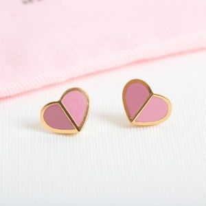 Kate Spade heritage spade small heart earrings